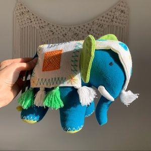 Hand made boho Elephant Stuffed animal soft baby plush pillow